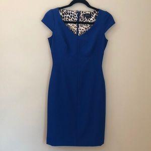 Tahari women's blue, lined, shift dress size 2